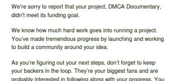 DMCA Documentary Post